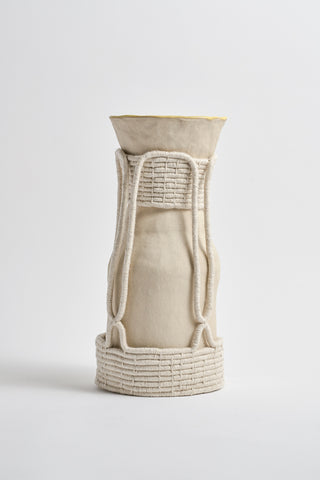 Karen Tinney One of a Kind Vase #534 in Natural/Yellow | Oroboro Store | New York, NY
