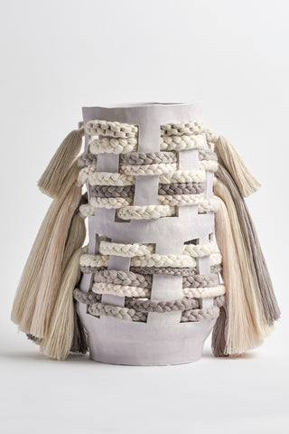 Karen Tinney One of a Kind Vessel #539 in Natural/Gray | Oroboro Store | New York, NY
