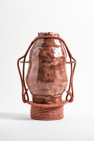Karen Tinney One of a Kind Vase #536 in Rust | Oroboro Store | New York, NY