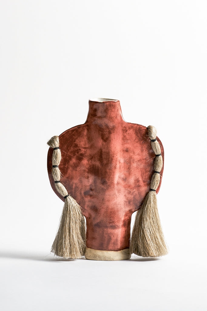 Karen Tinney Vase #503 in Rust/Natural | Oroboro Store | New York, NY