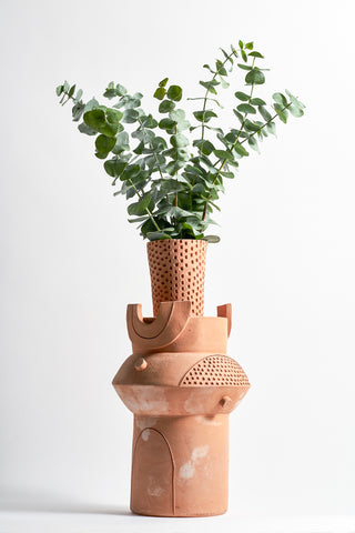 BZIPPY XL Oval Vase in Terracotta | Oroboro Store | New York, NY