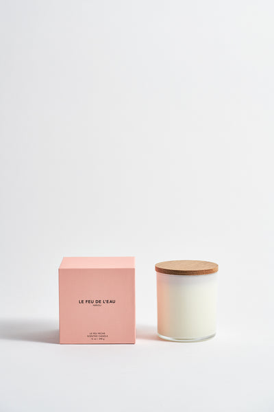 Le Feu De L'Eau Colorblock Candle in Neroli | Oroboro Store | New York, NY