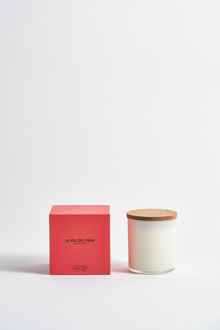Le Feu De L'Eau Colorblock Candle in Garden Rose | Oroboro Store | New York, NY