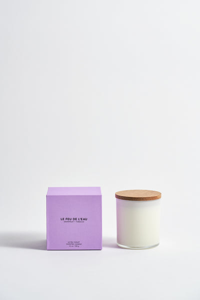 Le Feu De L'Eau Colorblock Candle in Grapefruit + Tobacco | Oroboro Store | New York, NY