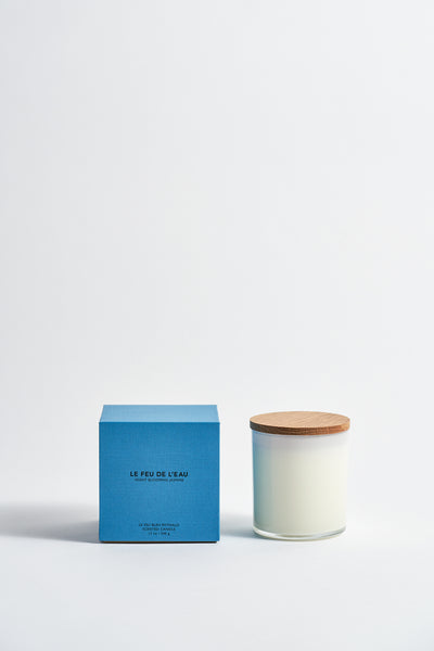 Le Feu De L'Eau Colorblock Candle in Night Blooming Jasmine | Oroboro Store | New York, NY