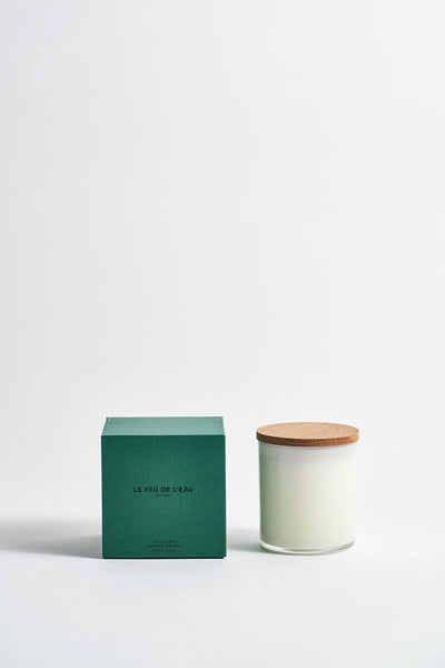 Le Feu De L'Eau Colorblock Candle in Fig Leaf | Oroboro Store | New York, NY
