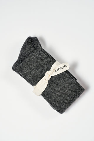 A Detacher Over the Knee Socks in Charcoal | Oroboro Store | New York, NY