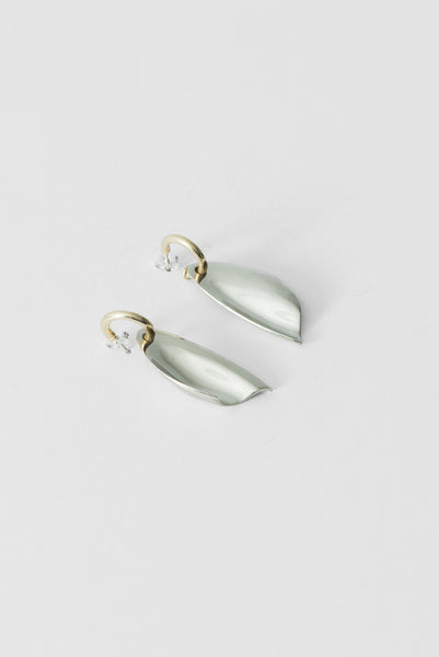Mele Hoop Earrings in Brass