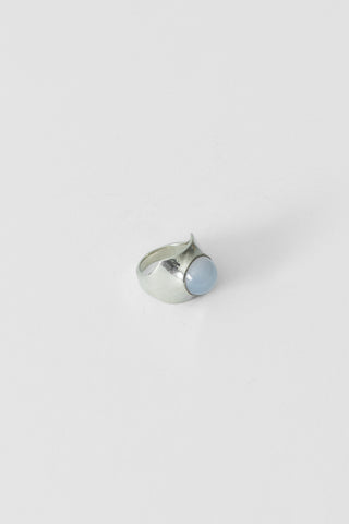 Shonn Ring in White Bronze/Chalcedony
