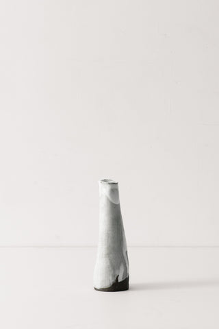 White On Black Conical Vase
