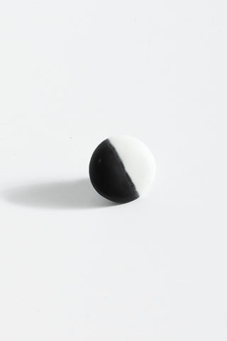 Monty J Ceramic Button Brooch in Black & White | Oroboro Store | New York, NY