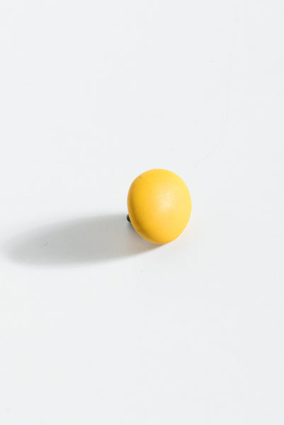 Monty J Ceramic Button Brooch in Yellow | Oroboro Store | New York, NY