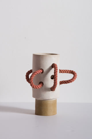 BZIPPY Medium Rope Vase in Cream | Oroboro Store | New York, NY