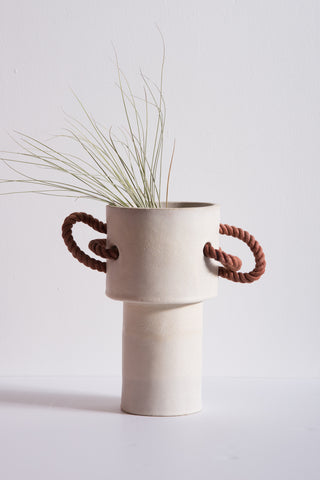 BZIPPY Large Rope Vase in Cream | Oroboro Store | New York, NY