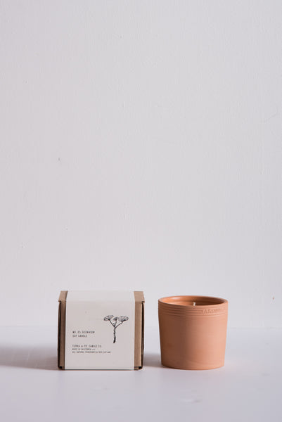 P.F. Candle Terra Soy Candle in No. 1 Geranium | Oroboro Store | New York, NY