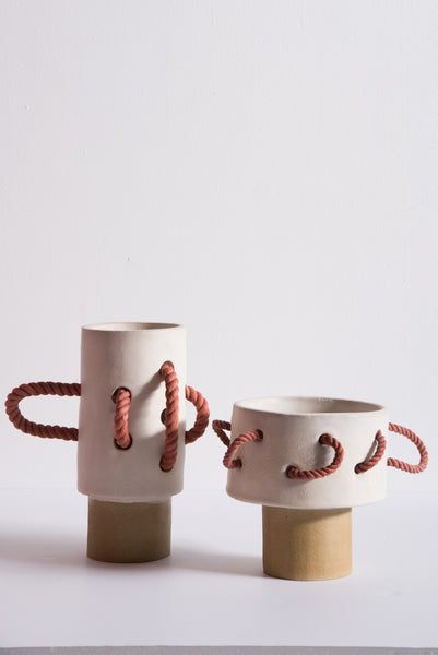 BZIPPY Small Rope Vase in Cream | Oroboro Store | New York, NY