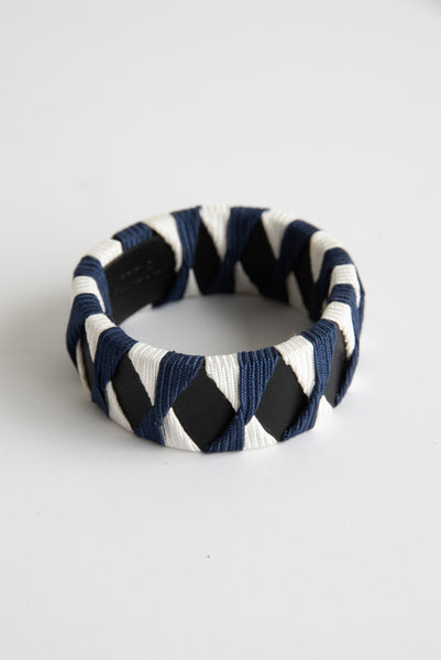 Hatori Bangle in Black x Navy + White | Oroboro Store | New York, NY