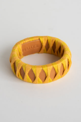 Hatori Bangle in Natural x Lime + Yellow | Oroboro Store | New York, NY