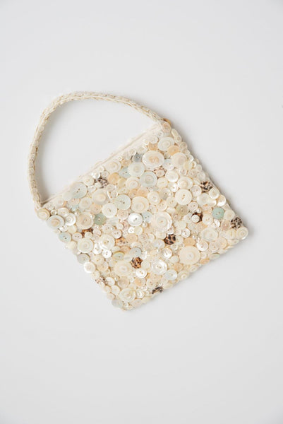 Intensity Large Beaded Bag in Mother of Pearl | Oroboro Store | New York, NY