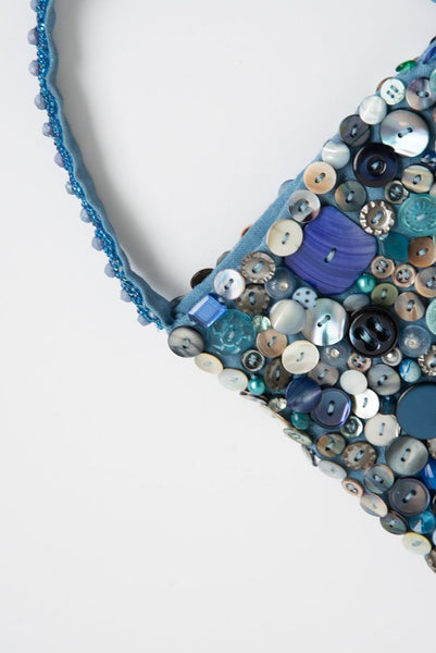 Intensity Small Beaded Bag in Blue | Oroboro Store | New York, NY