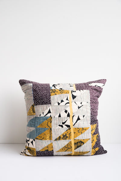 Counterpane Large Black and Yellow Pillow | Oroboro Store | New York, NY
