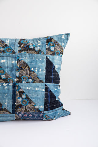Counterpane Large Indigo Pillow | Oroboro Store | New York, NY