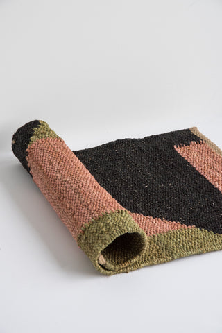 Tantuvi Hemp Rugs in Pink & Black | Oroboro Store | New York, NY