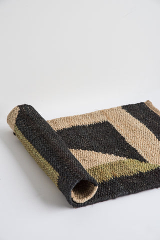 Tantuvi Hemp Rugs in Black & Green | Oroboro Store | New York, NY