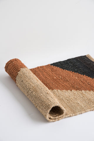 Tantuvi Hemp Rugs in Rust & Black | Oroboro Store | New York, NY