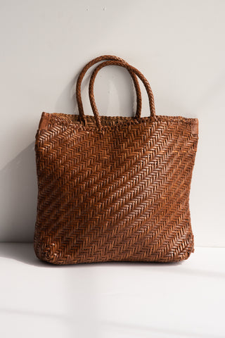 Dragon Diffusion Handwoven Buffalo Calf Bag in Tan | Oroboro Store | New York, NY