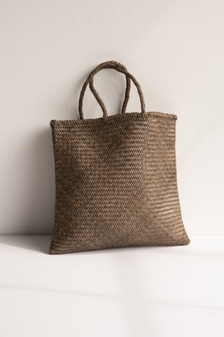 Dragon Diffusion Handwoven Basket in Military | Oroboro Store | New York, NY