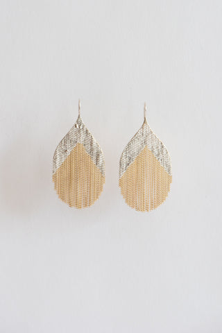 Hannah Keefe Nouveau Earrings in Brass & Silver | Oroboro Store | New York, NY
