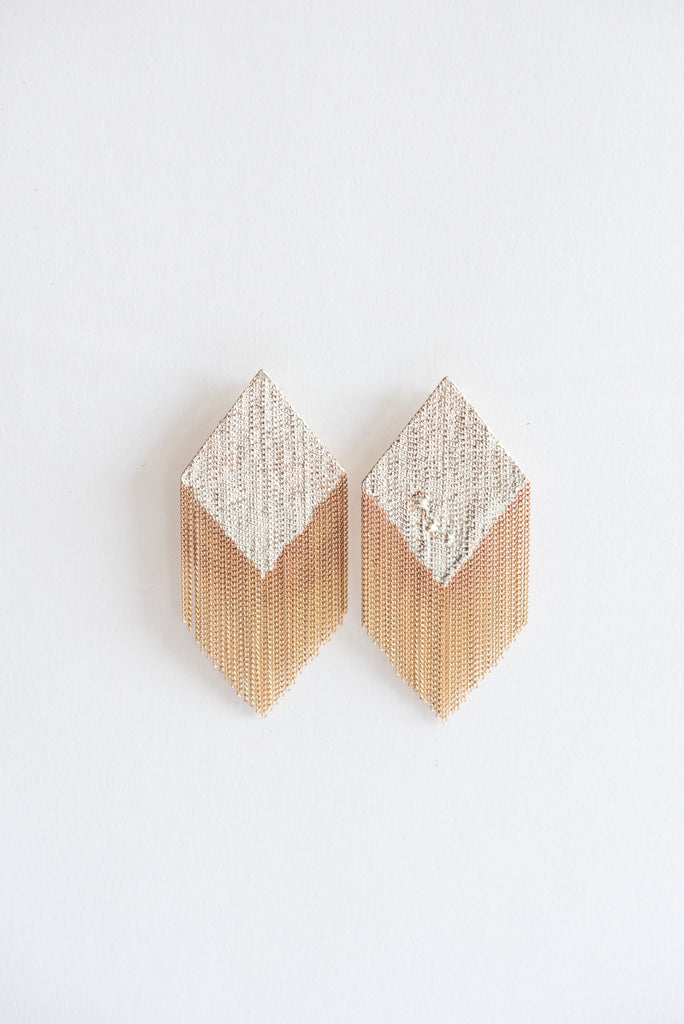 Hannah Keefe Aly Earrings in Brass & Silver | Oroboro Store | New York, NY