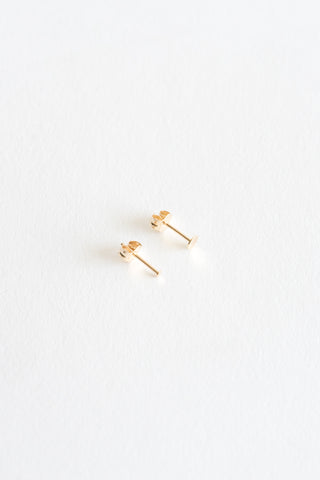 Kathleen Whitaker Sequin Stud in 14k Gold | Oroboro Store | New York, NY