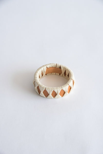 Hatori Bangle in Natural x Cream | Oroboro Store | New York, NY