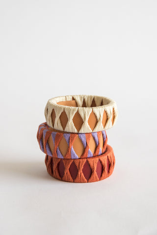 Hatori Bangle in Red x Tan | Oroboro Store | New York, NY