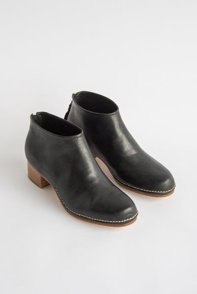 FEIT Ceremonial Mid Heel Boot in Black | Oroboro Store | New York, NY