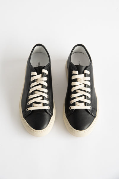 Sofie D'Hoore Frida Shoe - Nappa Leather in Black/Cream | Oroboro Store | New York, NY