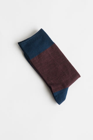Sofie D'Hoore Flag Sock - Fine Wool Knit in Bobl | Oroboro Store | New York, NY