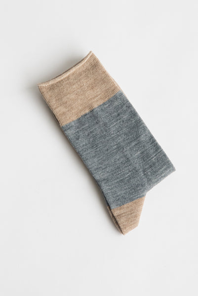 Sofie D'Hoore Flag Sock - Fine Wool Knit in Grey | Oroboro Store | New York, NY
