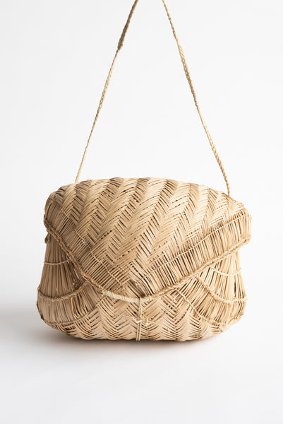 Incausa Carrying Basket by Xavante People - Natural | Oroboro Store | New York, NY