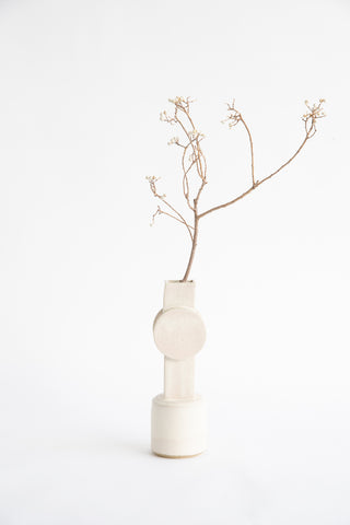 BZIPPY Medium Circle Top Vase in Cream | Oroboro Store | New York, NY
