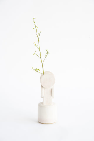 BZIPPY Small Circle Top Vase in Cream | Oroboro Store | New York, NY