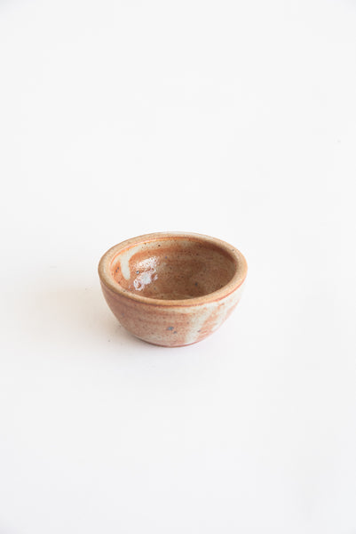 Incausa Smudge Bowl in Shino Glaze Off-White/Red | Oroboro Store | New York, NY