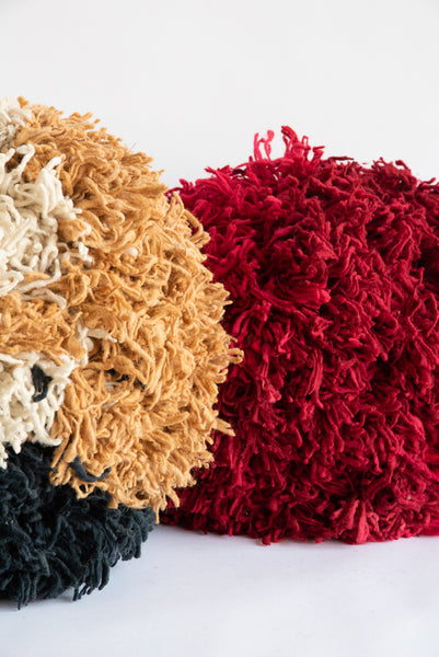 Tamar Mogendorff Pompom in Natural, Charcoal, Ochre | Oroboro Store | New York, NY