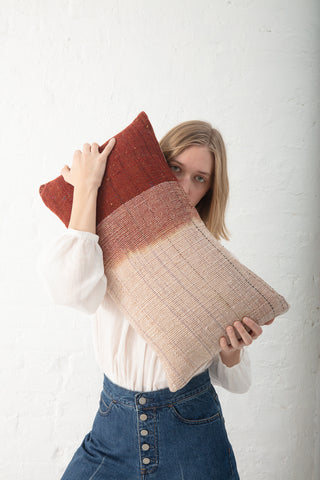 Jess Feury Dip Dye Pillow in Sienna II | Oroboro Store | New York, NY