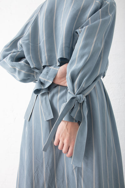 Tomorrowland  Layered Trench C/T in Blue Stripe | Oroboro Store | New York, NY