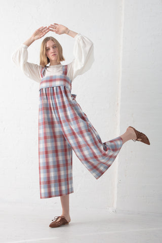 Ulla Johnson Iggy Jumpsuit in Madras | Oroboro Store | New York, NY