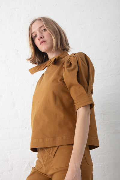 Ulla Johnson Briony Top in Bronze | Oroboro Store | New York, NY