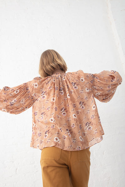Ulla Johnson Arnoux Blouse in Cafe | Oroboro Store | New York, NY